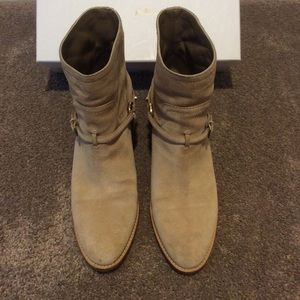Dior Suede boots with Gold hardware